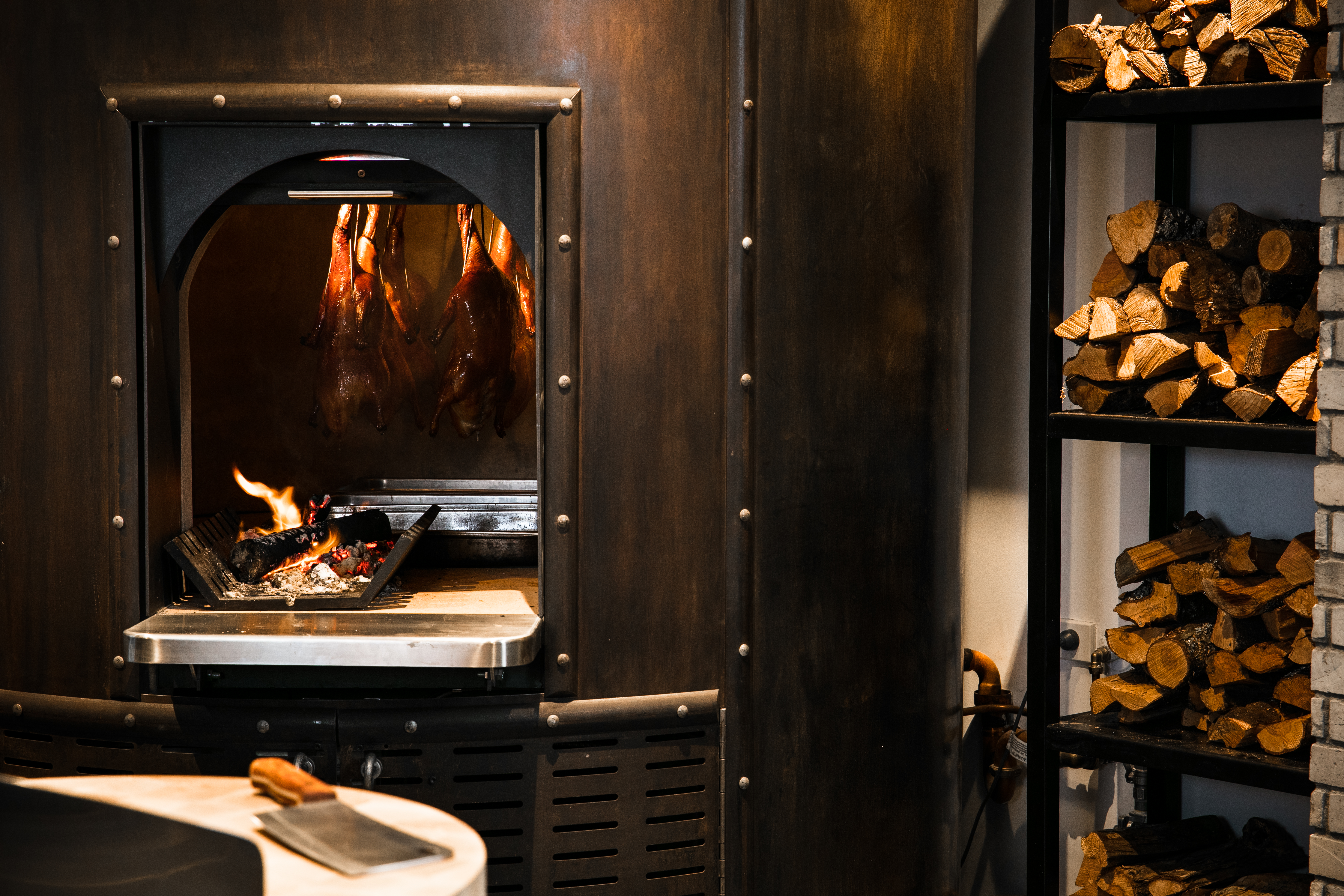 New Zealand's first wood fired duck oven at Huami.